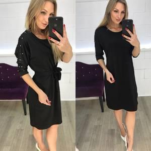 Платье короткое нарядное с рукавом 3/4 Ф3635