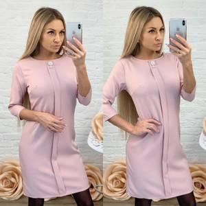 Платье короткое с рукавом 3/4 элегантное Ф5845