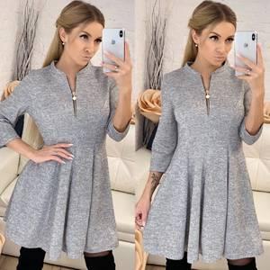 Платье короткое с рукавом 3/4 современное Ф8265