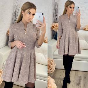 Платье короткое с рукавом 3/4 современное Ф8266