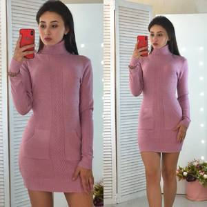 Платье короткое облегающее теплое Ф3311