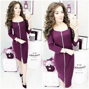 Платье короткое однотонное облегающее Ф3907