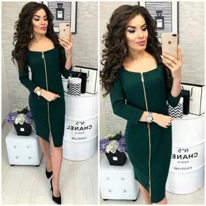 Платье короткое однотонное облегающее Ф3908