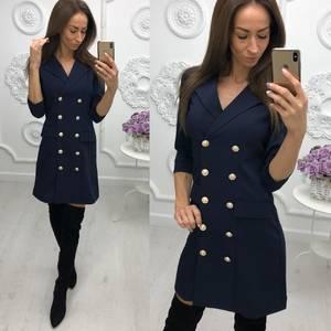 Платье короткое с рукавом 3/4 элегантное Ф3276