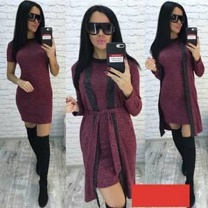Платье Двойка короткое облегающее Ф3745