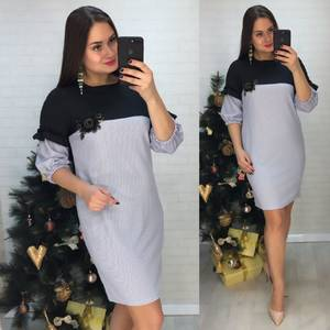 Платье короткое нарядное деловое Х0632
