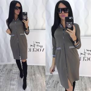 Платье короткое с рукавом 3/4 современное Ф6441