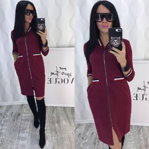 Платье короткое с рукавом 3/4 современное Ф6442