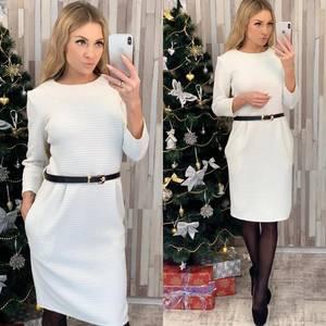 Платье короткое с рукавом 3/4 классическое Ф8398