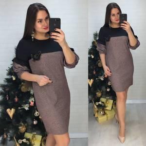 Платье короткое нарядное деловое Х0633