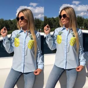 Рубашка с длинным рукавом с принтом Х0660