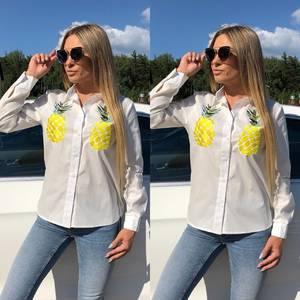 Рубашка с длинным рукавом с принтом Х0662