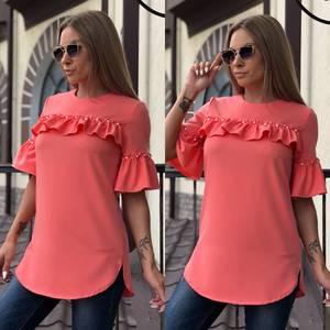 Блуза летняя с коротким рукавом У7422