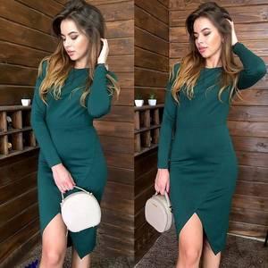 Платье короткое с длинным рукавом облегающее Х0605