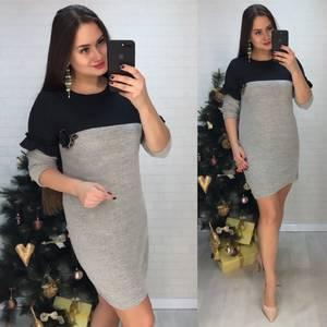 Платье короткое нарядное деловое Х0634