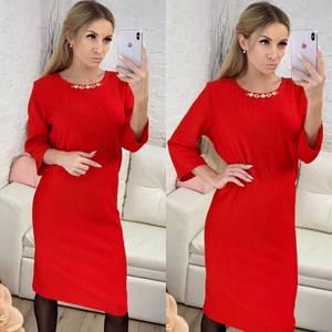 Платье короткое нарядное красное Ф8422