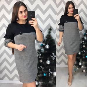 Платье короткое нарядное деловое Х0635