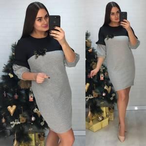 Платье короткое нарядное деловое Х0636