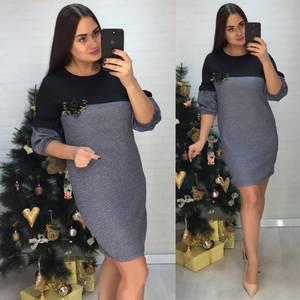 Платье короткое нарядное деловое Х0637
