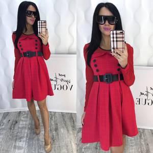 Платье короткое коктейльное красное Ф6446