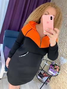 Платье короткое с длинным рукавом А22027