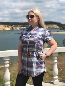 Рубашка с коротким рукавом Ч1166