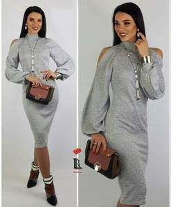 Платье короткое однотонное А15838