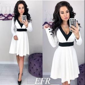 Платье короткое с длинным рукавом современное Ц3321