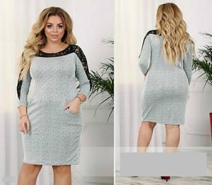 Платье короткое однотонное А15841