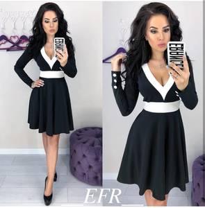 Платье короткое с длинным рукавом современное Ц3318
