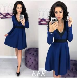 Платье короткое с длинным рукавом современное Ц3319