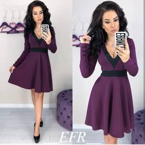 Платье короткое с длинным рукавом современное Ц3320