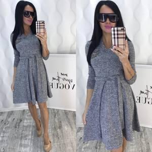 Платье короткое коктейльное с рукавом 3/4 Ф6434