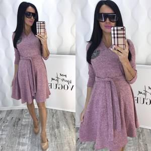Платье короткое коктейльное с рукавом 3/4 Ф6436