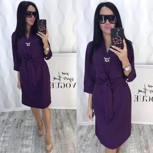 Платье короткое с рукавом 3/4 современное Ф6425