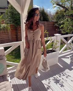 Платье длинное летнее А47306