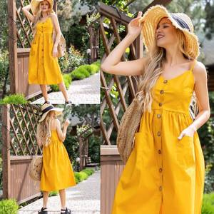 Платье длинное летнее А47307