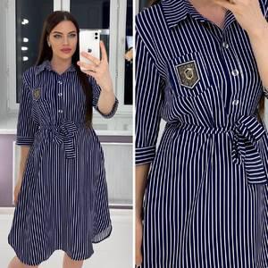 Платье короткое деловое Я3373