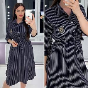 Платье короткое деловое Я3372