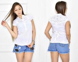 Блуза белая для офиса Т6672