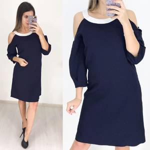 Платье короткое с рукавом 3/4 современное Ф3646