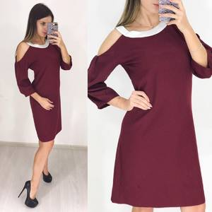 Платье короткое с рукавом 3/4 современное Ф3647