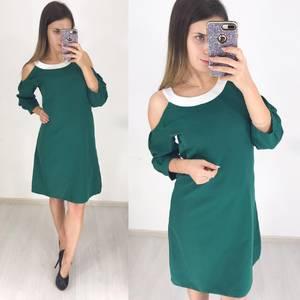 Платье короткое с рукавом 3/4 современное Ф3648