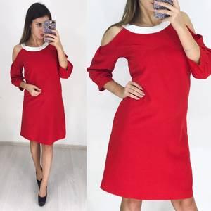 Платье короткое с рукавом 3/4 современное Ф3649