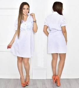Платье короткое белое летнее Т6676