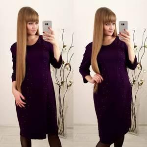 Платье короткое с рукавом 3/4 современное Ф3657