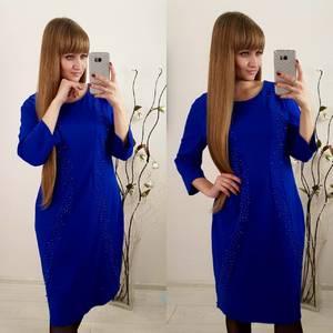 Платье короткое нарядное с рукавом 3/4 Ф3658