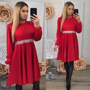 Платье короткое вечернее красное Ф3663