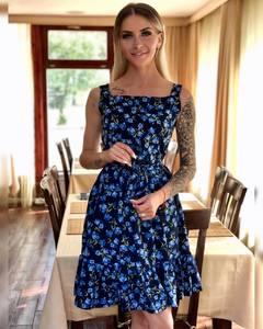 Платье короткое с принтом Ч1552