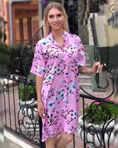 Платье короткое с принтом Ч1540